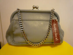 New Charles David Kisslock leather small purse clutch bag $25.99