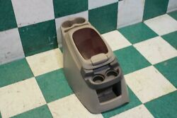 02-05 Excursion Woodgrain Tan Floor Center Console Assembly Cup Holder Oem
