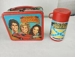 Vintage 1983 Dukes Of Hazzard Metal Lunchbox And 1980 Thermos