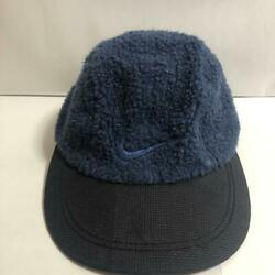 Rare Vintage 1990and039s Nike Bore Fleece Cap Hat Dog Tag Navy Black One Size Japan