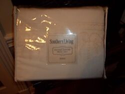 Nip Southern Living Edgewood Embroidered Scroll King Duvet Cover And Shams Set 3pc