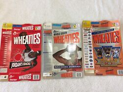 Vintage Michael Jordan Wheaties Collectibles Cereal Box Boxes Lot, Empty, 1994