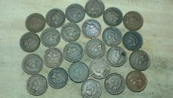 Indian Head Cent Half-roll - Higher Quality - 1900and039s Dates - Read Description