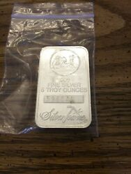 5 Oz. .999 Fine Silver Bar - Silvertowne - Numbered