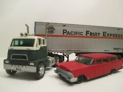 Vintage Matchbox Henrickson H0 Scale Truck With Athearn Pfe Trailer