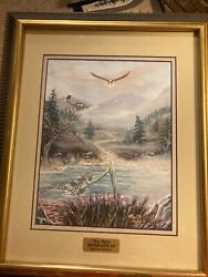 Tony Ryals Unique Eagles Flying Painting