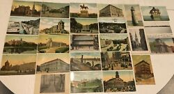 Lot of 25 Antique Vintage Boston Postcards Early 1900#x27;s