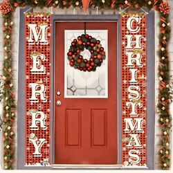 Sale Beautiful Merry Christmas Front Door Porch Wall Mantle Hanging Banner Set