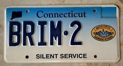 Connecticut Silent Service Specialty Vanity License Plate Brim•2 Beautiful