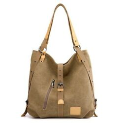 Women Vintage Canvas Totes Multifunction Large Capacity Handbag For Travel bag $22.99