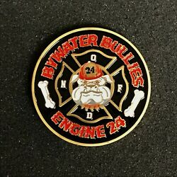 New Orleans Fire Dept Engine 24 Bywater Bullies Challenge Coin 1.75 New