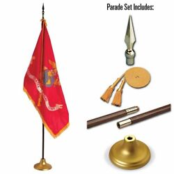 Allied Flag 3 X 5 Ft Us Marine Corps Indoor Display And Parade Flag Set