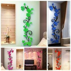 Flower Sticker Home Decor Living Room Wall Stickers Removable DIY Vase 3D Tree