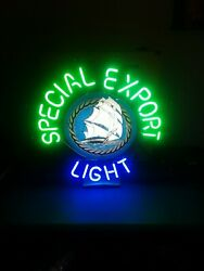 Vtg Special Export Old Style Beer Ship And Water Neon Light Up Sign Heilemans Wi