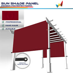 Large Waterproof Replacement Pergola Cover Sun Shade Sail For Deck Patio Red