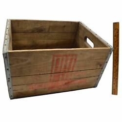 Antique Wood Crate Port Murray Dairy Products Rare N.j. Pm Milk Wooden Box
