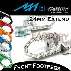 Cnc 24mm Extend Highway Rider Touring Footpegs Fit Mv Agusta Brutale 1078rr 989r