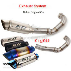 Motorcycle Exhaust Mid Connecting Pipe Slip 51mm Mufflers Modified For Duke 790