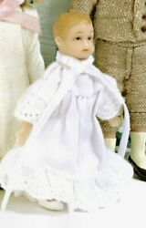 Miniature Dollhouse Ellie Drummond Victorian Baby Girl Doll 112 Scale New