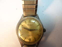 Welsbro 17 Jewel Automatic Watch Runs And Stops For Restoration Or Parts