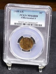 1909-s/s Lincoln Wheat Cent - Pcgs Ms64rb 34331