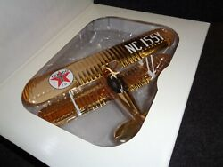 Texaco Sampler 24kt Gold Plated Airplane Waco Staggerwing 132 N/removed Mib New