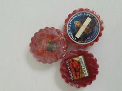 3 Yankee Tarts Black Cherry Red Apple Wreath Home For The Holidays