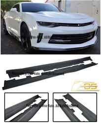 Eos Zl1 Style Abs Side Skirt Panels Extension For Chevy Camaro Ss Rs 16-up