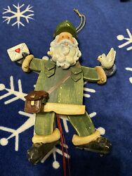 Usps Postal Santa Clause Mailman Mail Carrier Christmas Tree Ornament