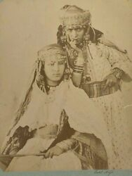 Photo Albumine Femmes Berberes Ouled Nayls Nail Costume Carton Contrecolle C2654