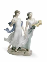 Lladro Retired Limited Edition 01008399 Summer Roses Woman Brand New