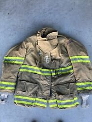 Firefighter Globe Turnout Bunker Coat 46x32 G-xtreme 2008 No Cut Out
