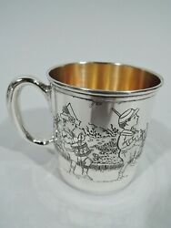 Morss Mug - 999 - Antique Christening Baby Cup - American Sterling Silver