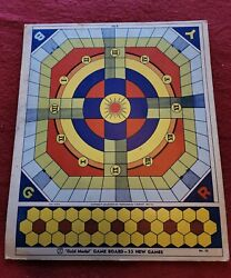 33 New Games Transogram 1938 Gold Medal Game Board