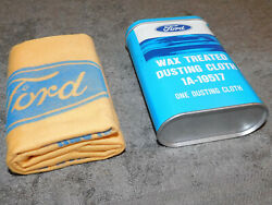 1966-1972 Ford Mustang Shelby Mercury Cougar Nos Wax Treated Dusting Cloth And Tin