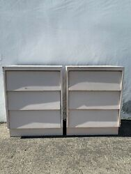 Pair Of Nightstands Mid Century Furniture Bedside Tables Retro Modern Cabinet