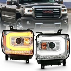 Anzo 111488 For 14- 15 Sierra 1500 Projector Headlight Plank Chrome Switchback