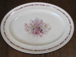 Vtg Johnson Brothers Old English Queen's Bouquet 11 X 14 1/8 Serving Platter