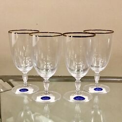 Set Of 4 Royal Doulton Oxford Gold Iced Tea Glass Finest Crystal