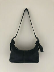 COACH LEATHER HOBO SMALL HANDBAG PURSE BLACK 9564 $49.00