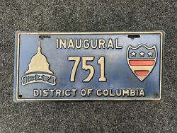 1937 Roosevelt Inaugural License Plate