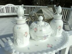 Westmoreland Roses And Bow 4 Piece Vanity Set