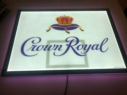 New Crown Royal Advertising Lighted Led Basketball Sign Retail Store Display