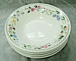 Farberware English Garden Set Of 4-7+ Soup Cereal Bowls 225 Fine China New