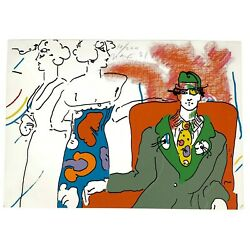 Peter Max Serigraph On Paper 1981 If Suite/series Space Place Le 10/200