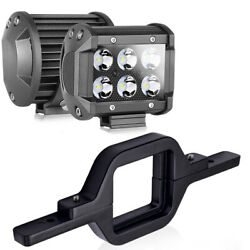 Tow Hitch Mounting Bracket Truck Reverse Backup + 2x 4 Led Pods Work Light Bar