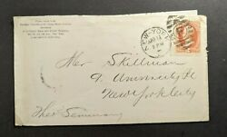 1878 Christian Association Cover New York City With Contents