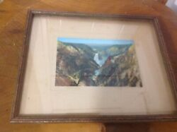 Old Antique J.e.haynes St. Paul Stamphand Tinted Photo Grand Canyon Yellowstone