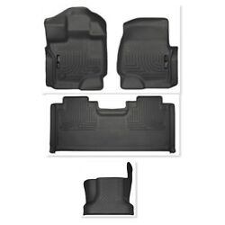 Husky Weatherbeater 2015-2018 Ford F-150 Crew Cab Floor Mats And Hump Set Black