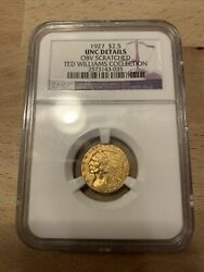 1927 Gold Coin 2 1/2 Dollar Ted Williams Collection Ngc